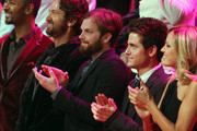 Gerard Butler, Caleb and Jared Followill and Malin Ackerman in the celeb-packed audience for the 2010 Victoria's Secret Fasshion Show, held at the Lexington Avenue Armory in Manhattan.