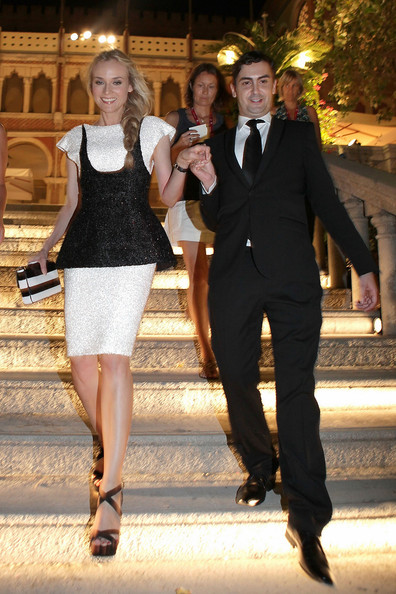 Diane Kruger Diane Kruger rocks a sparkly monochrome dress as she arrives for the opening night party of the Venice Film Festival.