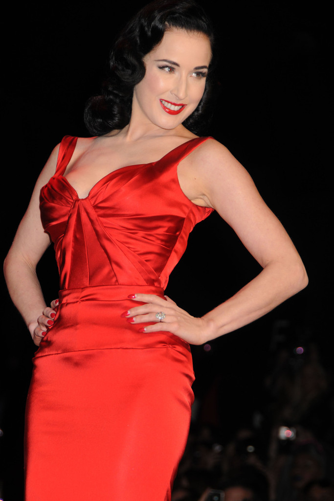 Dita Von Teese In Heart Truth S Red Dress Fall 2011