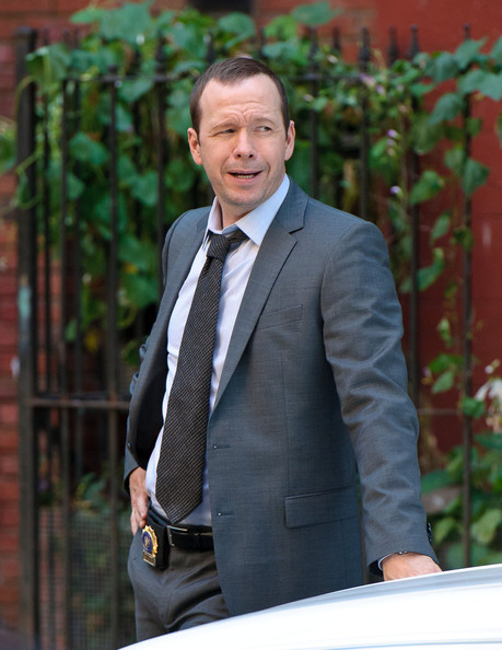 Donnie Wahlberg filming scenes for the American TV show 'Blue Bloods'