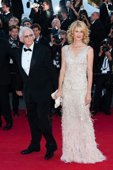 Bruce Dern and Laura Dern attend the 'Nebraska' premiere during The 66th Annual Cannes Film Festival at the Palais des Festivals.