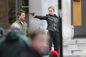 Emily Blunt Tom Cruise Tom Cruise and Emily Blunt Film in London
