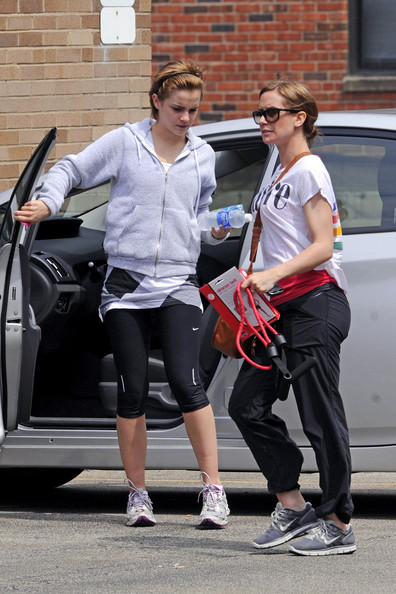Emma Watson arrives at the gym for a workout with her personal trainer
