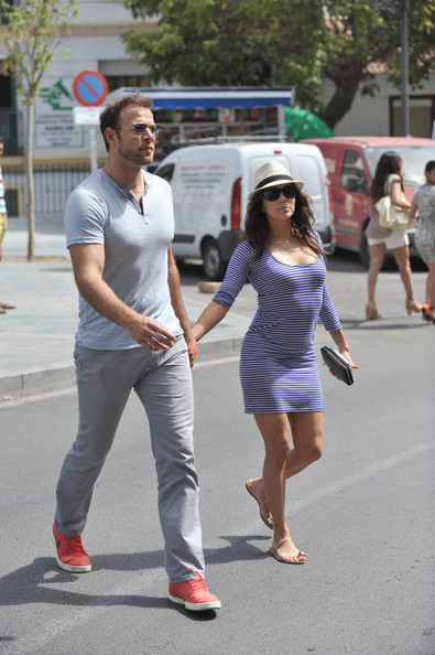 Eva Longoria and Ernesto Arguello Go Shopping in Malaga