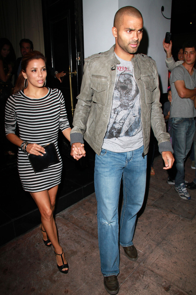 Eva Longoria and Tony Parker at Beso - Zimbio