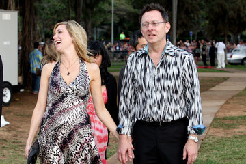"""Michael Emerson Carrie Preston Evangeline Lilly at the Premiere of the Final Season of """"Lost"""""""