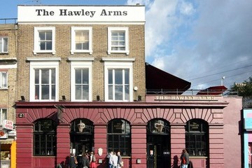 Camden FILE PHOTO: Amy Winehouse's local pub, The Hawley Arms, in Camden, which she frequented and where fans are reportedly gathering in tribute to the star