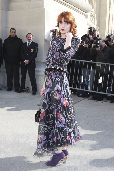 Florence and the Machine Florence Welch arriving for the Chanel fashion show Ready to Wear collection at Paris Fashion Week.