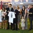 Football Gareth Bale in his new Real Madrid shirt during his official unveiling at Estadio Santiago Bernabeu in Madrid