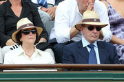Jacques Rogge, IOC President, and his wife Anne Rogge attend the Women's final during the 2011 French Open, second tennis Grand Slam of the year played on clay court, held at the Stade Roland-Garros in Paris.