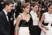 Emma Watson, Taissa Farmiga, Katie Chang and Claire Julien attend the 'Jeune & Jolie' premiere during 66th Cannes Film Festival 2013, held at the Palais des Festivals at the Croisette Avenue in Cannes.