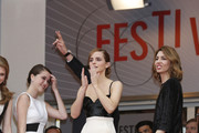 Emma Watson, Taissa Farmiga, Katie Chang, Claire Julien and Sofia Coppola attend the 'Jeune & Jolie' premiere during 66th Cannes Film Festival 2013, held at the Palais des Festivals at the Croisette Avenue in Cannes.