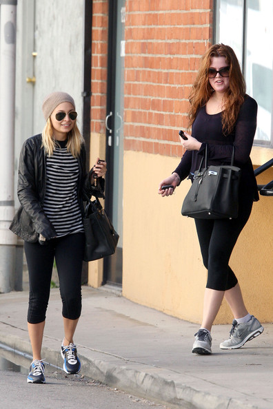 Nicole Richie and Khloe Kardashian try to keep fit in the new year as they