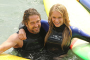 Gerard Butler Leven Rambin Photos Photo
