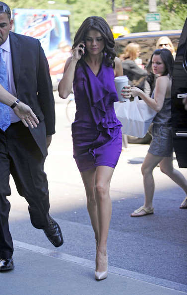 """Actress Selena Gomez arrives at the Ritz-Carlton hotel in New York for new movie """"Monte Carlo"""" press junket. The romantic comedy was produced by Nicole Kidman and features a song by star Selena Gomez and her band """"The Scene""""."""