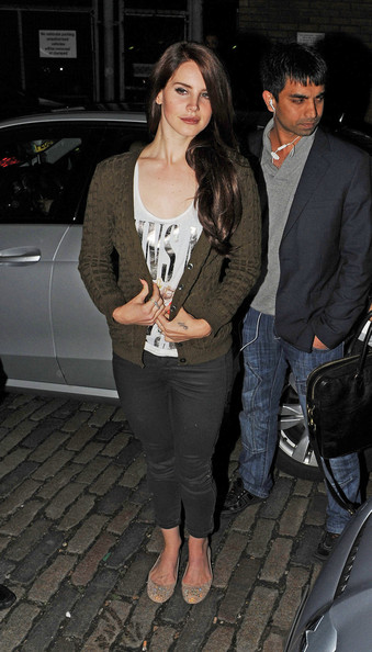 Lana Del Rey arrives to perform an intimate gig at the Jazz Cafe in London