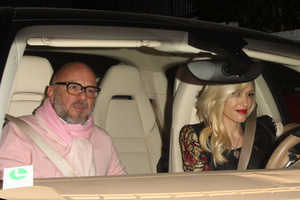Gwen Stefani Out Driving in West Hollywood