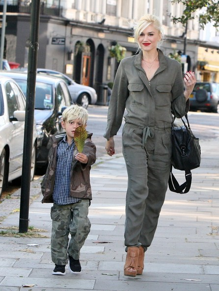 Gwen Stefani in London with Family