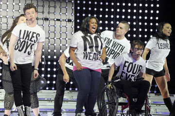 Chris Colfer Cory Monteith 'Glee' Cast Performs at the MEN Arena