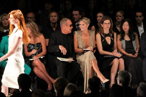 Heidi Klum Nina Garcia Michael Kors Heidi Klum Photos Celebs In The Front Row At Fashion Week Zimbio