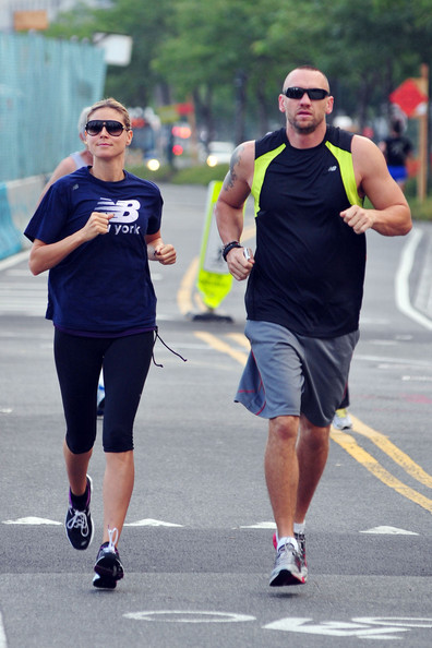 Heidi Klum Goes for a Run