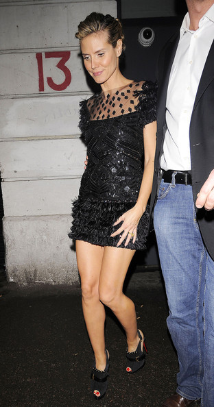 Heidi Klum Leaves Shoreditch House