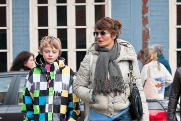 Mingus Lucien Reedus Helena Christensen and Son Stroll in the West Village