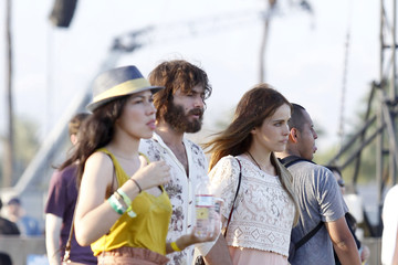 Angus Stone Isabel Lucas and Angus Stone at Coachella