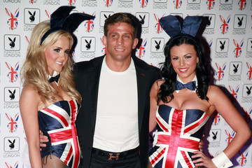 Alex Reid Hugh Hefner and Crystal Harris at Playboy Club in London