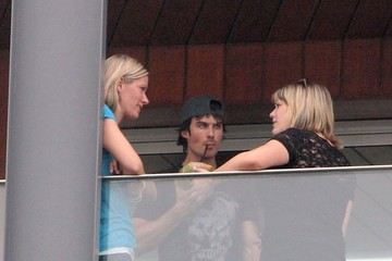 Helicopter Ian Somerhalder takes a helicopter ride from Sao Paulo to his hotel in Rio De Janeiro, Brazil