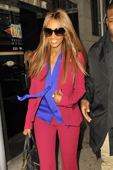 Iman - Iman Arrives for 'Wendy Williams'