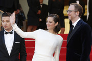 James Gray, Marion Cotillard, Jeremy Renner seen attending 'The Immigrant' premiere at 66th Cannes Film Festival 2013 in Cannes, France.