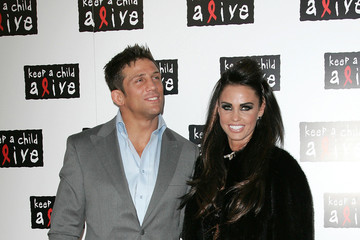 Katie Price Alex Reid The Keep A Child Alive Black Ball event held at St John's in London