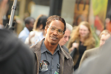 Jamie Foxx 'Spider-Man 2' Films in NYC