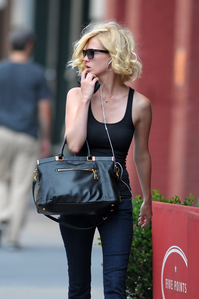 January Jones in January Jones in NYC - Zimbio