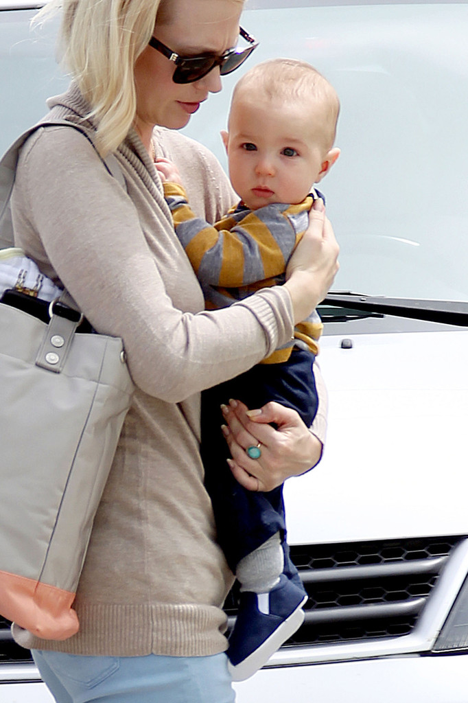 Latest Pictures: January Jones and Son Xander - January ... January Jones Son Images