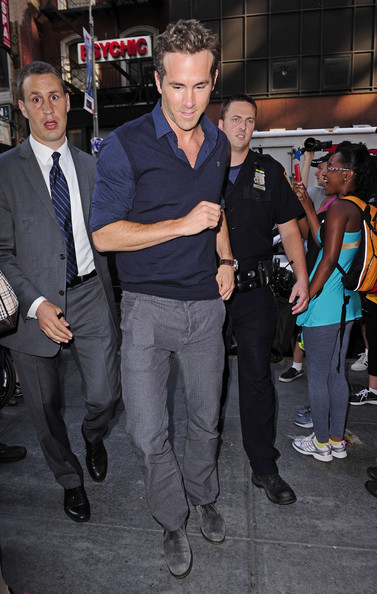 "Ryan Reynolds leaving the ""Today"" show after an appearance to promote his latest movie, ""The Change-Up"". The movie releases in the States on August 5."