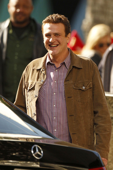 "Jason Segel is seen on the set of ""The Muppets"" in downtown Los Angeles. Segel is the star, co-director, and a writer for the Disney film, to be released in 2011."