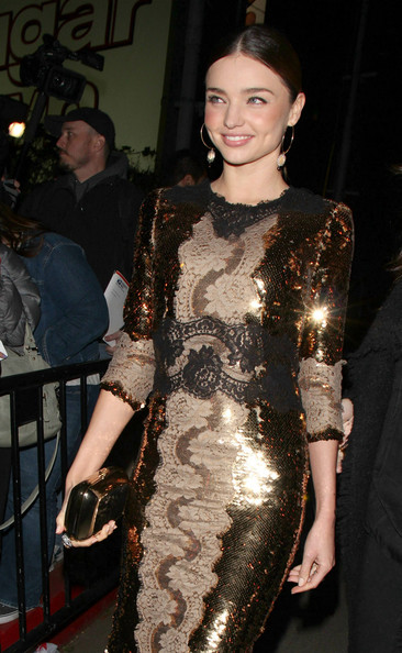 Miranda Kerr attending the W Magazine and Dom Perignon's Pre-Golden Globes Party held at the Chateau Marmont in West Hollywood.