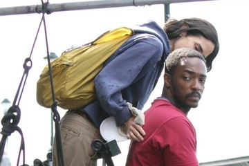 Jennifer Connelly Anthony Mackie Jennifer Connelly and Anthony Mackie Film in NYC — Part 3