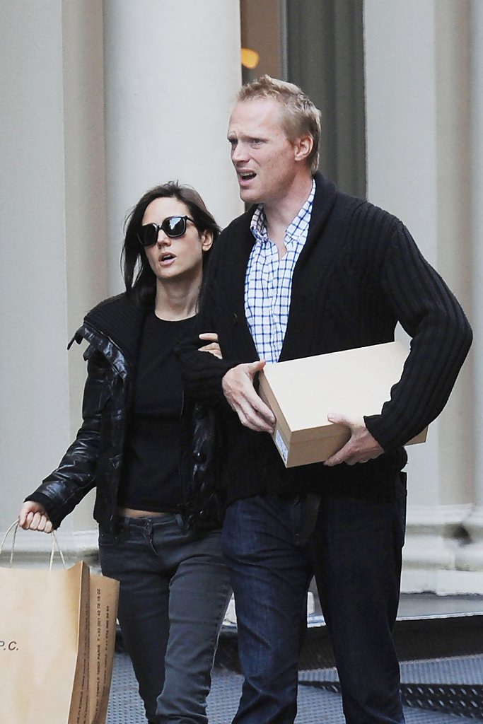 jennifer connelly and paul bettany shopping in soho zimbio. Black Bedroom Furniture Sets. Home Design Ideas