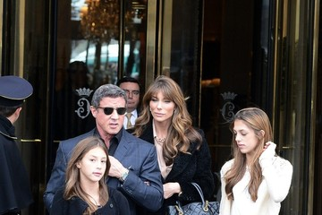 Jennifer Flavin Sylvester Stallone and Family Visit the Decorative Arts Museum
