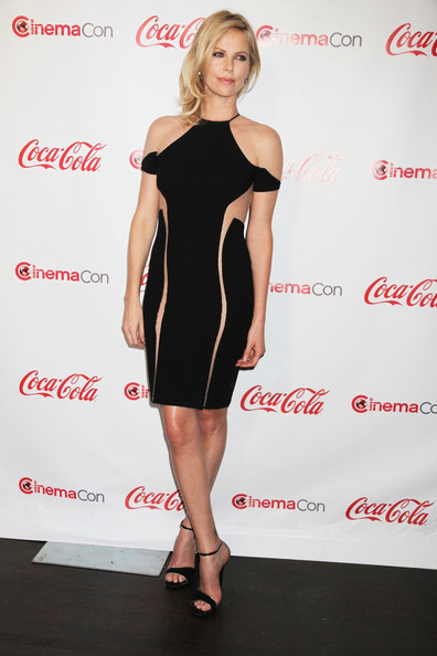 Charlize+Theron in Celebs at CinemaCon 2012 in Vegas