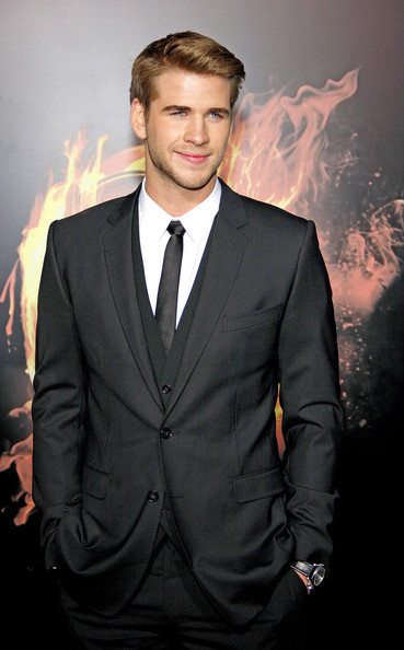 "Liam Hemsworth at the Los Angeles premiere of ""The Hunger Games"" held at the Nokia Theatre L.A. Live, Los Angeles."
