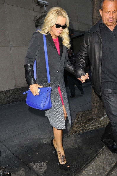 Jenny McCarthy Jenny McCarthy, appearing to sport a new foot tattoo