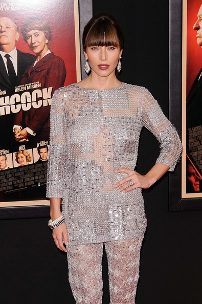 Jessica Biel - Dame Helen Mirren seen attending the premiere of new film 'Hitchcock' held at the Ziegfeld Theater in New York City