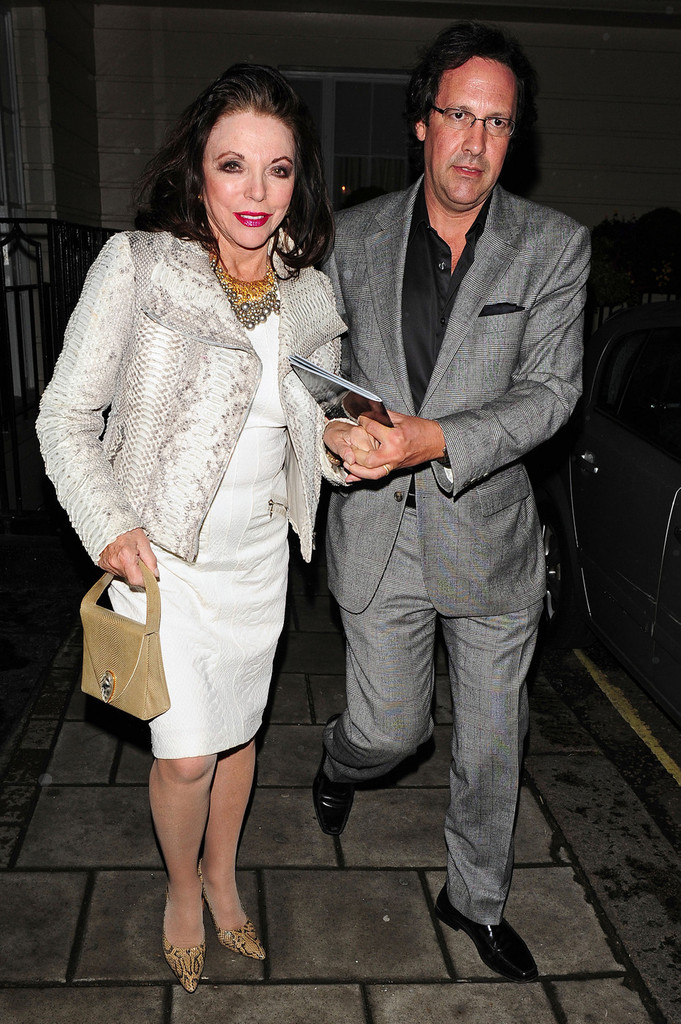 joan collins pictures   celebs leave a performance of