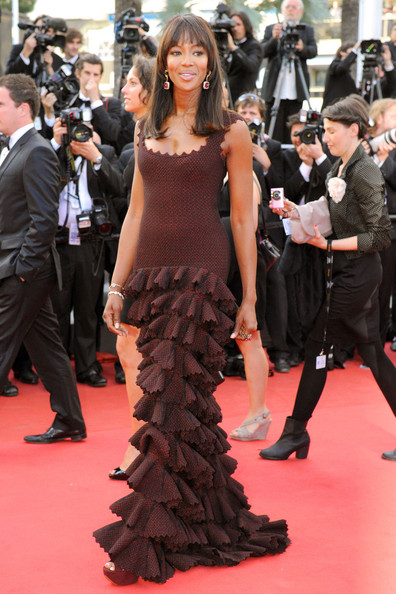 "Naomi Campbell arrives for the premiere of the new film ""The Beaver"", held during the 64th Annual Cannes Film Festival at the Palais des Festivals."