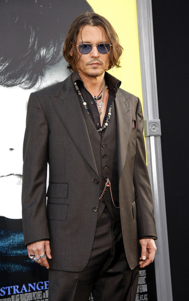 Johnny Depp Johnny Depp seen attending the Hollywood premiere of Tim Burtons new vampire film 'Dark Shadows' in Los Angeles.