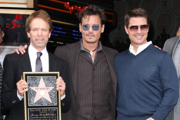 Johnny Depp Jerry Bruckheimer Jerry Bruckheimer Honored on the Walk of Fame
